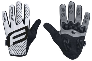 Force MTB Spid 17 Full Gloves White/Black XXL