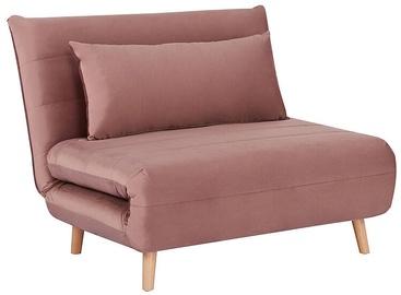 Atzveltnes krēsls Signal Meble Spike Velvet, rozā, 105 cm x 90 cm x 80 cm