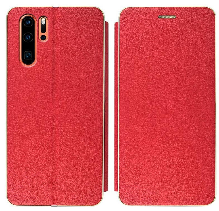 Mocco Frame Book Case For Samsung Galaxy S10 Plus Red