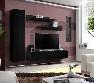 Dzīvojamās istabas mēbeļu komplekts ASM Fly G Black/Black Gloss