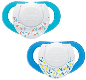 Chicco Physio Compact 2pcs Silicone 6 Blue