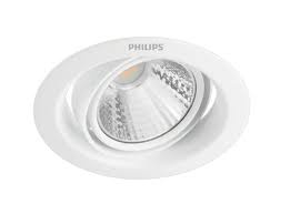 Lampa Philips Pomeron, 5W, 4000°K, LED, IP20, balta