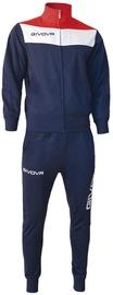 Спортивный костюм Givova Campo Tracksuit Blue/Red 3XS
