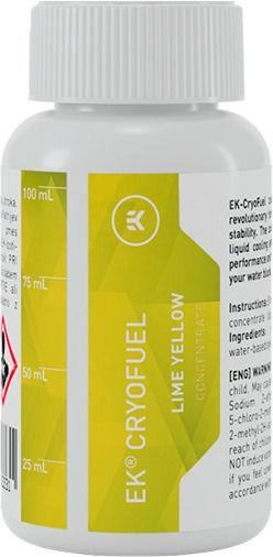 EK Water Blocks EK-CryoFuel Lime Yellow (Concentrate 100mL)