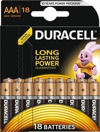 Baterijas Duracell Alkaline Long Lasting Power 18x AAA