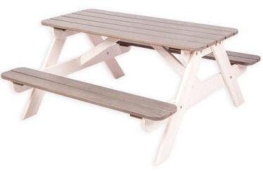 Садовый стол Folkland Timber White/Graphite, 100 x 43 x 51 см