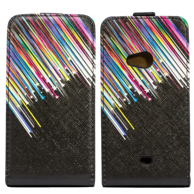 Forcell Slim Flip Pattern for Sony ST26i Xperia J Vertical Case Colourfull Design 4