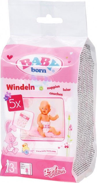 Zapf Creation Baby Born Nappies 5pcs 826508