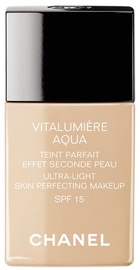 Tonizējošais krēms Chanel Vitalumiere Aqua Fluid Ultra-Light Makeup SPF15 Beige, 30 ml