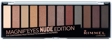 Тени для глаз Rimmel London Magnif'Eyes Eye Contouring Palette Nude Edition, 14 г