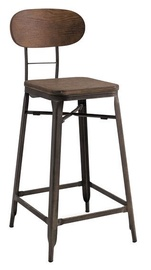 Bāra krēsls Signal Meble Lope Walnut/Graphite, 1 gab.