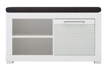 Шкаф для обуви Black Red White Flames White, 920x370x500 мм