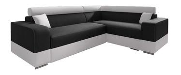 Stūra dīvāns Idzczak Meble Infinity Mini Black/White, labais, 256 x 186 x 93 cm