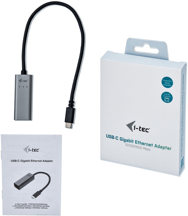 i-Tec USB-C Metal Gigabit Ethernet Adapter C31METALGLAN