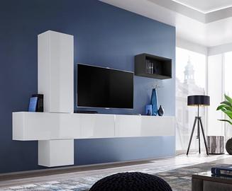 ASM Blox VI Living Room Wall Unit Set White/Black