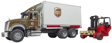 Bruder Mack Granite UPS Logistics Truck With Forklift 02828