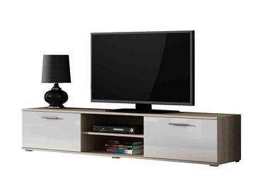 ТВ стол Cama Meble Soho 180, белый/дубовый, 1800x430x370 мм