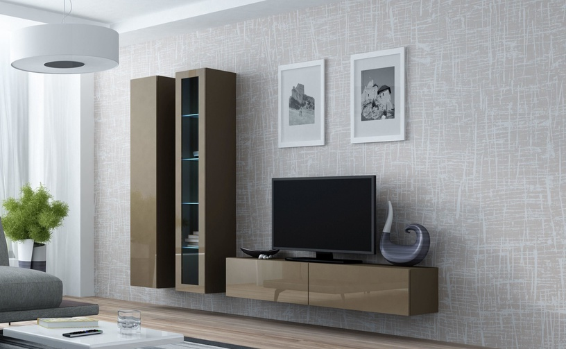 Cama Meble Vigo 180 Full Cabinet Latte/Latte Gloss