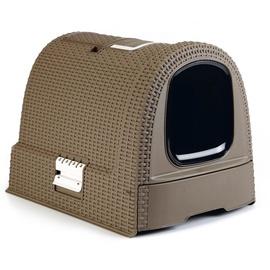 Кошачий туалет VLX Curver, коричневый, закрытый, 510x385x395 мм