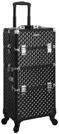 Songmics Cosmetic Suitcase Black 36x23x75cm