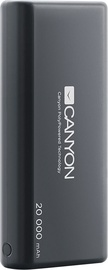 Canyon Ultra-Capacious Lithium Polymer Battery With 3-in-1 USB Cable 20,000 mAh Black