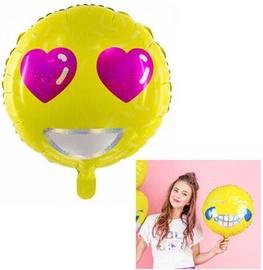 PartyDeco Folijas balons, 45 cm / Emoji Love