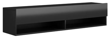 ТВ стол Vivaldi Meble Derby 140, черный, 1400x328x300 мм
