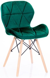 Ēdamistabas krēsls Homede Silla, zaļa, 4 gab.
