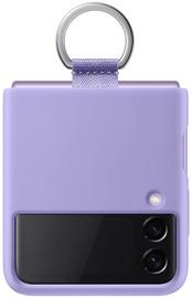 Чехол Samsung Silicone Cover for Galaxy Z Flip 3 with Ring, фиолетовый