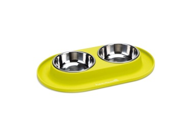 Beeztees Silicone & Stainless Steel Bowl Set 2x125ml