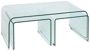 Kafijas galdiņš Signal Meble Lia Priam A Transparent, 1200x420x600 mm