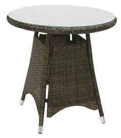 Садовый стол Home4you Wicker 12685, коричневый, 60 x 60 x 59 см