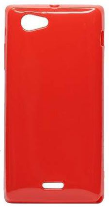 Forcell Jelly Back Case for Sony ST26i Xperia J Red