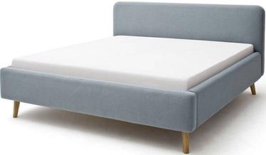 Кровать Meise Möbel Mattis, голубой, 200x180 см