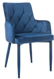 Ēdamistabas krēsls Signal Meble Ricardo Velvet Navy Blue