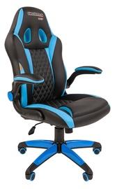 Spēļu krēsls Chairman Game Game 15, zila/melna