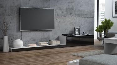 ТВ стол Cama Meble Life 300, белый/черный, 3000x420x350 мм