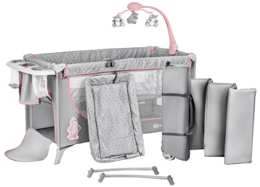 Ceļojuma gulta KinderKraft Joy With Accessories Pink