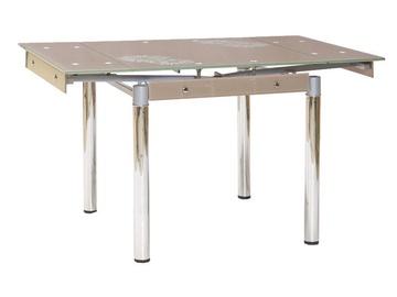 Обеденный стол Signal Meble GD-082 Dark Beige, 800 - 1310x800x750 мм