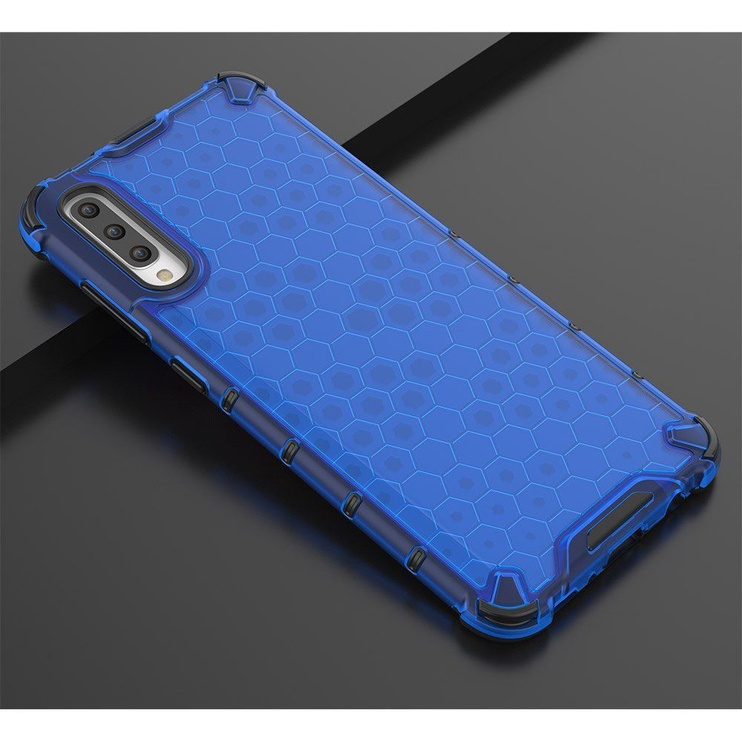 Hurtel Honeycomb Armor Back Case For Samsung Galaxy A70 Blue