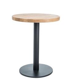 Обеденный стол Signal Meble Puro II Natural Oak/Black, 700x700x760 мм