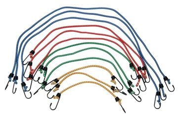 Kravas nostiprināšanas virvju komplekts Autoserio XH-LB020-2, 12 gab.