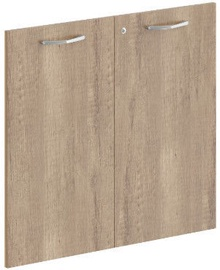 Skyland Dioni DLD 42-2 Shelf Doors with Lock 42.2x76.5x1.8cm Canyon Oak