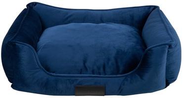 Кровать для животных District 70 Veluro S, синий, 500 мм x 600 мм