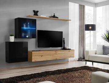 Dzīvojamās istabas mēbeļu komplekts ASM Switch XV Wotan/Black