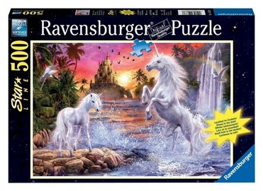 Puzle Ravensburger Star Line Line Unicorns At The River 14873, 500 gab.