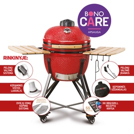 Grills keramisk. Kamado Bono Media 52cm, red
