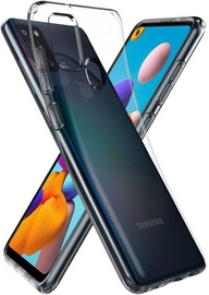 Spigen Liquid Crystal Back Case For Samsung Galaxy A21s Crystal Clear