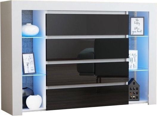 Kumode Pro Meble Milano 4SZ With Light White/Black