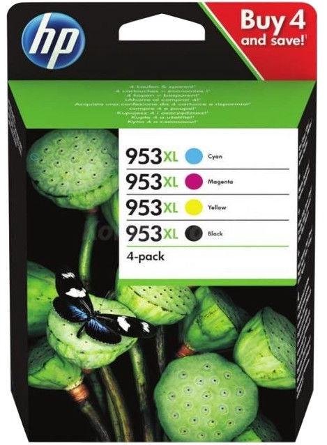 HP Ink Cartridge 953XL 4-Pack Cyan/Magenta/Yellow/Black
